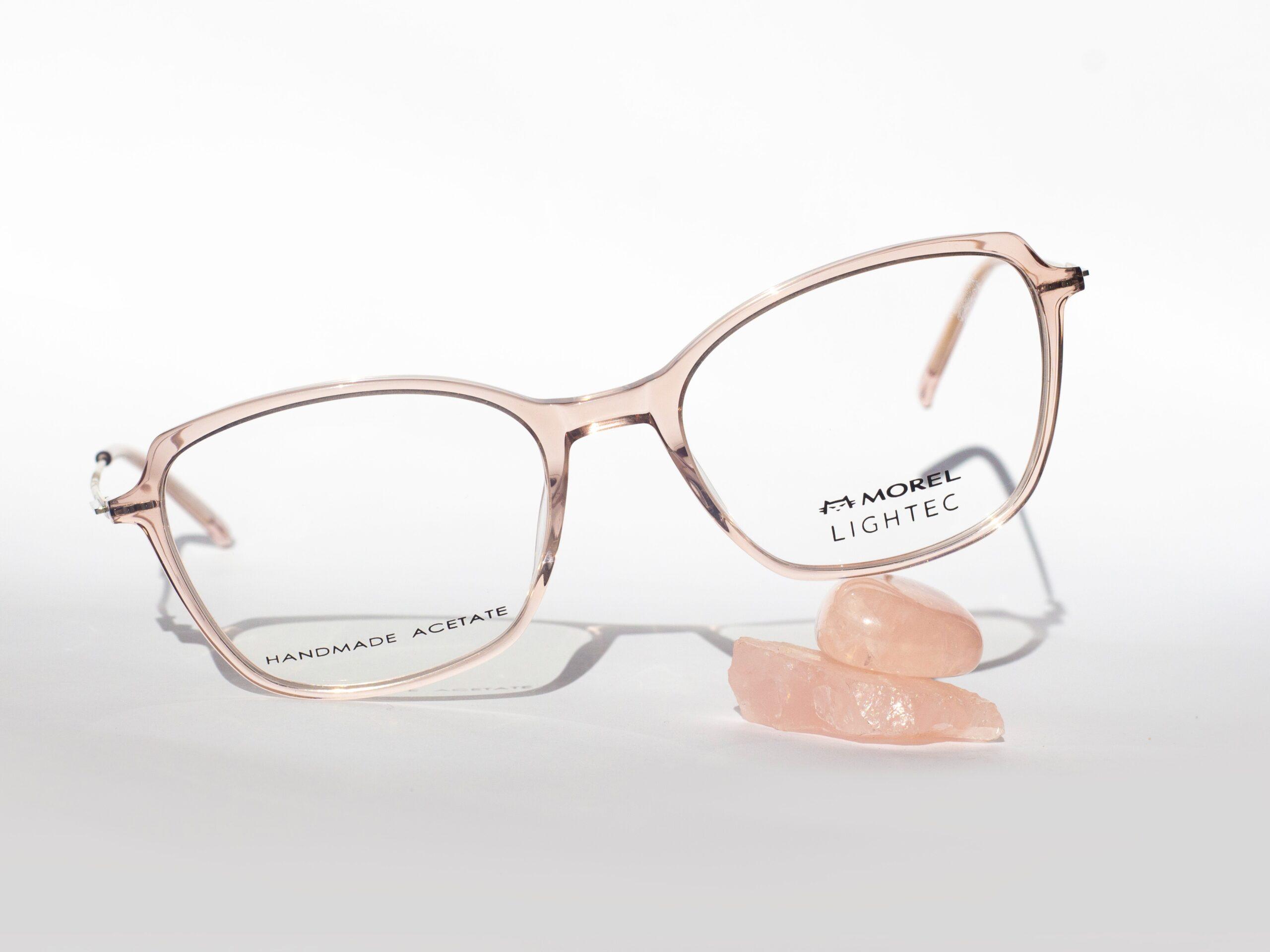 Lightec crystal pink eyewear glasses